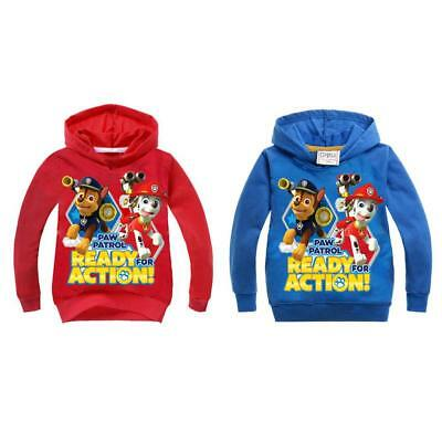 New 2017 Kids Paw Patrol Hoodie Sweater Hooded Jumper Sweatshirt Thin 2-10Y