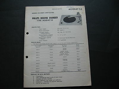 Philips Record Changer SERVICE DATA