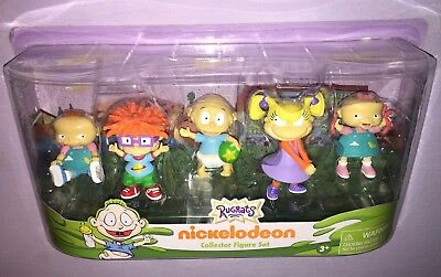 Rugrats Collector Figure Set Phil / Chuckie / Tommy / Angelica / Lil Nickelodeon