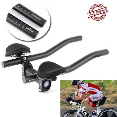 TT Handlebar Aero Bars Triathlon Time Trial Cycling Rest Moutain Bike +