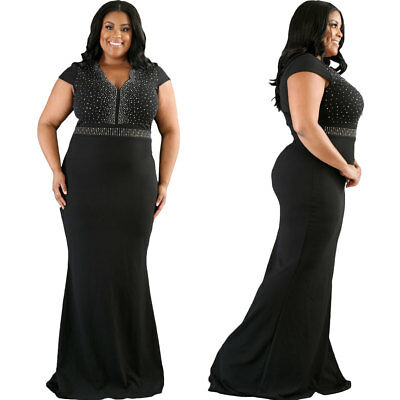 Usa Plus Size Womens Formal Gown Wedding Bridesmaid Evening Cocktail