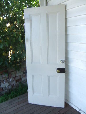 ORIGINAL VICTORIAN 4 PANEL TIMBER DOOR 753 w x 1993 h recycled house period old
