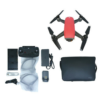 NEW DJI Spark Fly More Combo Camera Drone International Warranty LAVA RED
