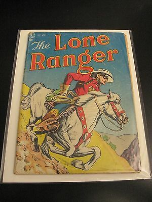 LONE RANGER #4 Dell 1948 (VG-) Bright & Colorful!