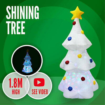 Shining Christmas Star Tree 1.8m Inflatable Xmas Animated Moving Disco Light Dec