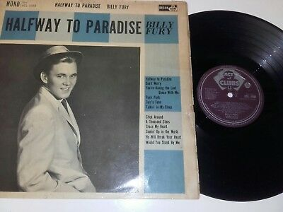 Billy Fury Halfway To Paradise Orig 1961 Ace Of Clubs Acl 1083  Mono Lp Record
