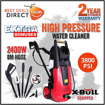 X-BULL 3800 PSI High Pressure Washer Electric Water Cleaner Gurney Pump Hose