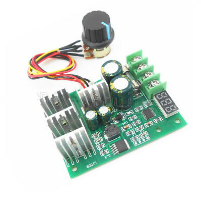 30A DC6-60V PWM Motor Speed Controller Board Dimmer Current Regulator+ Display