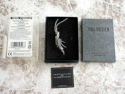Final Fantasy SQUARE ENIX Japan Official Sterling Silver Pendant VII Sephiroth