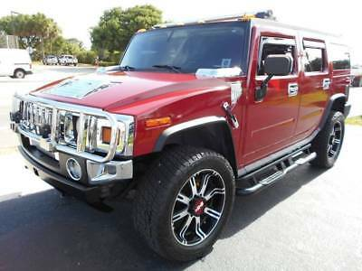 2003 Hummer H2  2003 HUMMER H2 4WD SUV Beautiful Rims Wrap Maroon SUV 6.0L V8 Automatic NICE FL!