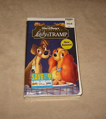NEW Walt Disney's Masterpiece VHS Lady and the Tramp VHS Vintage Collectible