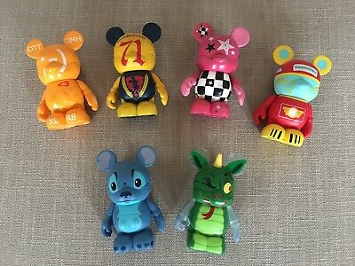 """Lot of Six (6) Disney 3"""" Vinylmation Assorted Collection - Stitch Toontown"""