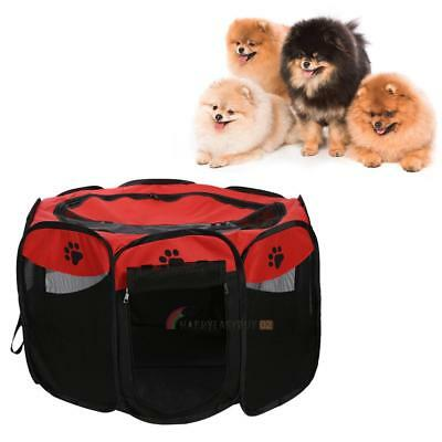 Pet Dog Puppy Folding Playpen Cage Tent Kennel Soft Exercise Fence CA STOCK