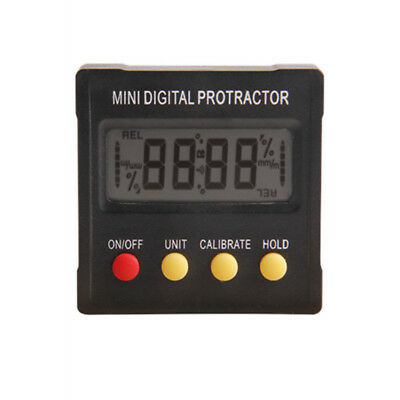 Mini Electronic Digital Protractor 360° Inclinometer Angle Meter Magnetic Base