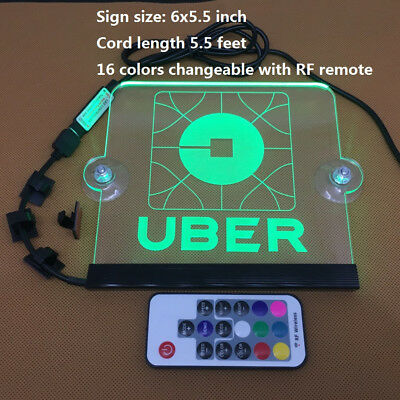 Uber Go catch sign rideshare LED sign size 9.4X3.9in. 5V 3.3ft USB cord remote