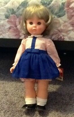 "Vintage 13"" Furga Doll W/ Tag & Original Clothing & Shoes, Made In Italy, 1960's"