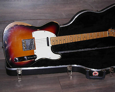 Relic Tele / Partscaster Three Tone Sunburst with Fender Case