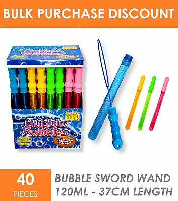 40x Children Kid Bubble Wand Sword Stick Beach Summer Outdoor Toys Party Favour