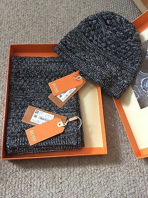 Hugo Boss Orange Hat And Scarf Set Brand New