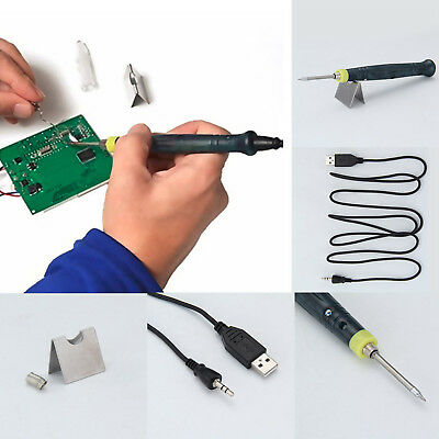 USB Soldering Iron Pen Portable Electric Powered Tip Touch Switch KIT 5V 8W NEW
