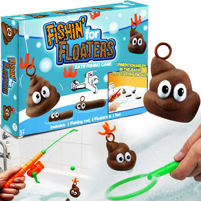 Poo Floaters Bath Fishing Game Xmas Stocking Filler emoji