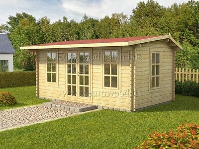 Log cabin ROME 5x3m, 44mm double glazed