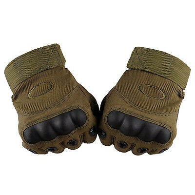 Half Finger Military Tactical Gloves Airsoft Hard Knuckle  Outdoor Hunting Glove
