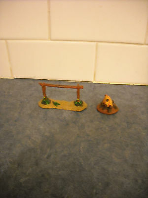 Breyer Miniature Stablemate Farm Ranch  Horse Accessories Lot Hitching Post Fire