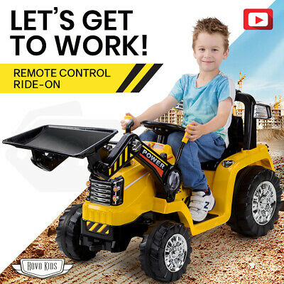 ROVO KIDS Ride-On Digger Electric Tractor Loader Bulldozer Toy Battery Excavator