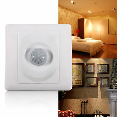 PIR Body Motion Sensor Switch Infrared Wall Mount LED Light Lamp Control BT