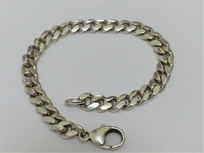 Massives Panzerarmband in 925 Sterling Silber, Länge: 18,5cm