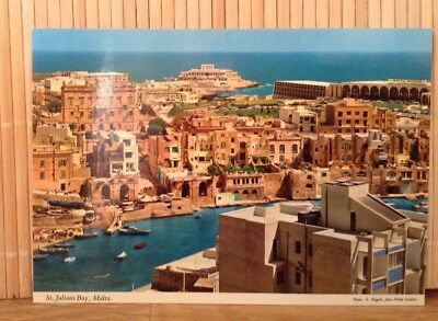Malta St Julians Bay  - John Hinde Postcard Retro