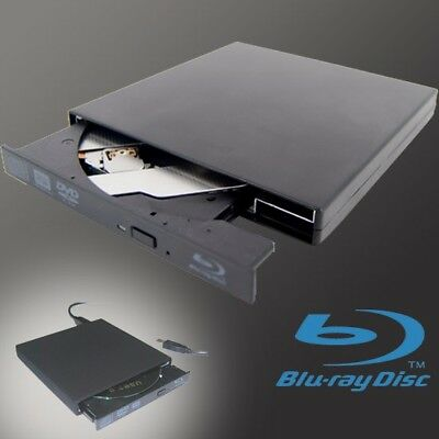 New External USB Blu-ray Burner Drive BD-RE CD DVD±RW DL / 3D BLU RAY 2x WRITER