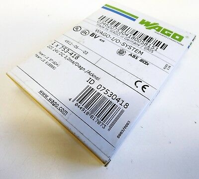 WAGO 753-418 2DI 24V DC 3,0ms Diagn. 2-Kanal Digital Eingangsklemme -unused/OVP-