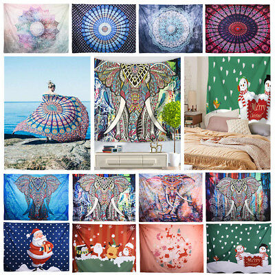 Indian Tapestry Wall Hanging Hippie Mandala Bedspread Gypsy Art Beach Throw Mat