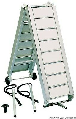 Eloxal Foldable Gangway M. Major Support, Various Lengths ERH Steg Boat Ramp