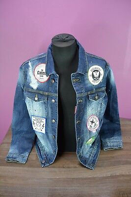 BNWT Made in Italy,Dsquared2 DENIM JACKET Collection'17 JACKEN  TOP ,ALL SIZES