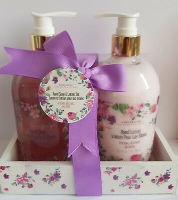 Pure Passion Handseife & Lotion Set 500mls pink rose rose