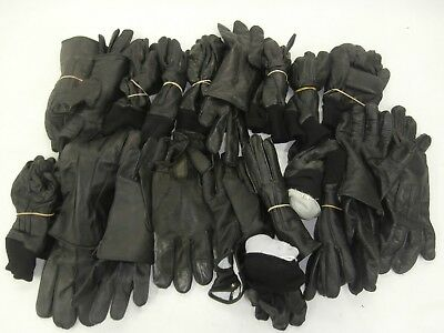 20 x Pairs Mixed Size & Style Black Leather Gloves Mens Womens Driving