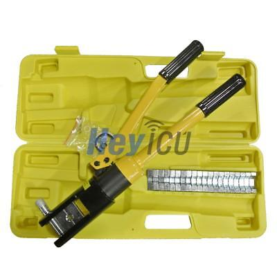 16 Ton Hydraulic Crimper Plier Cable Crimping Crimper Tool Kit 11 Die 16 To 300m