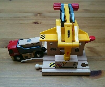 Brio Freight Loading Station 5-Part Cargo Load Railway Rail Wooden Toy