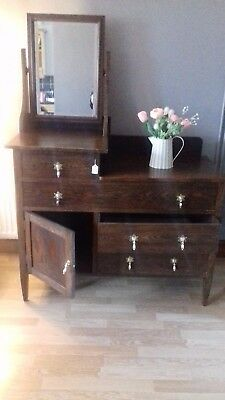 Antique Dressing Table with Mirror, Suitable for a Bedroom, Hallway or Bathroom