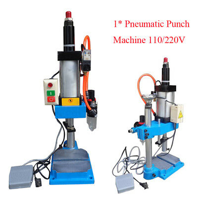 1X Compact Pneumatic Punch machine 110V/220V Cylinder Stroke For Automatic Apply