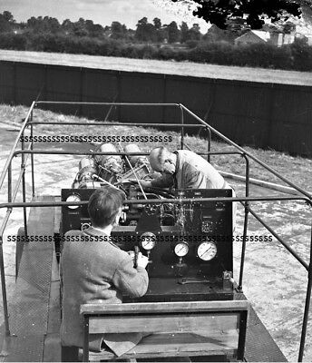 PHOTOGRAPHIC GLASS NEGATIVE GAS TURBINE TESTING ENGINES LEICESTER 19th SEPT 1947