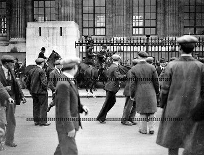 Photographic Glass Negative Rioting Unemployed In London - Depression Sept 1931