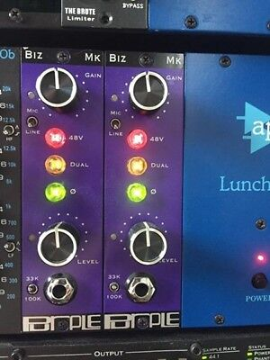 Purple Biz Mk Preamps for API lunchbox (not Neve, SSL) x2