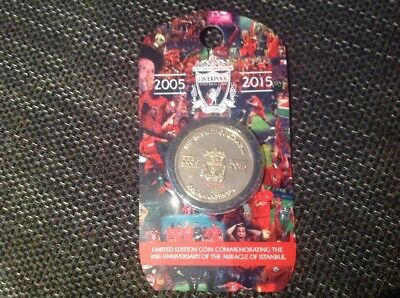 limited edition coin liverpool fc istanbul champions league 2005 Steven gerrard