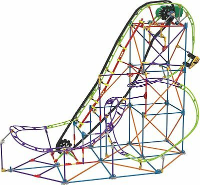 KNEX Wild Whiplash Roller Coaster Building Ages 9+ Toy Play Gift Boys Ride Chain