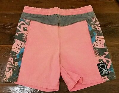 Vintage Men's Small Morey Boogie board Cotton Swim Trunks Shorts neon Rad nice