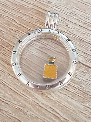 Perfume Bottle No 5 Floating Charm Living Memory Locket (Pandora)